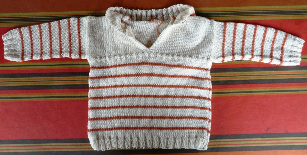tricoter un pull pour bebe 12 mois